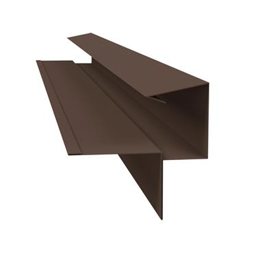 Tile Dry Verge System Alu. 55mm (T2) Brown 2.4m