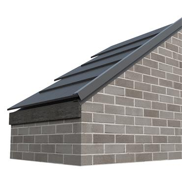 Tile Dry Verge System Alu. 65mm (T2) Black 2.4m