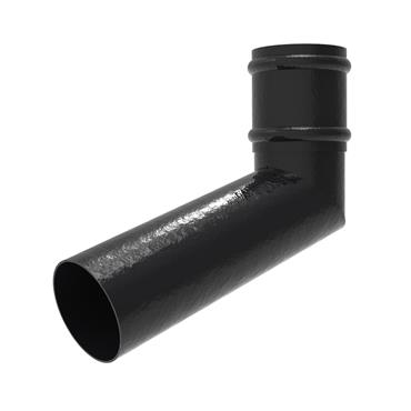 Round Aluminium Downpipe Offset Bend (500mm) with Socket 100mm RAL Textured Black