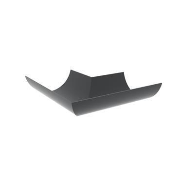 Half Round Aluminium Gutter Bend 90 deg 125mm RAL 7016