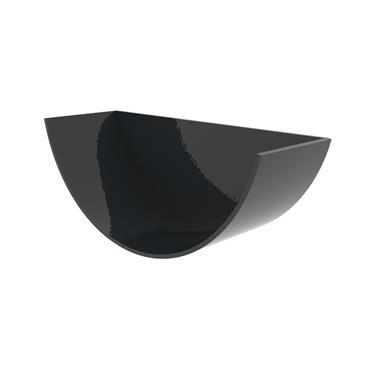 Half Round Aluminium Gutter Stopend Int. (Universal) 125mm RAL 7016