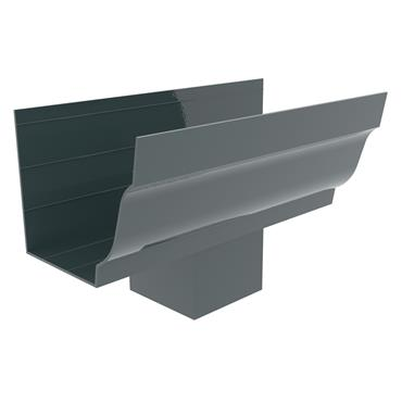 Ogee Aluminium Gutter Outlet (100mm Square) 125mm RAL 7016