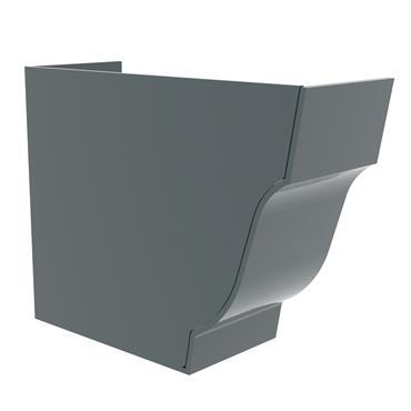 Ogee Aluminium Gutter Stopend Internal (Left Hand) 125mm RAL 7016