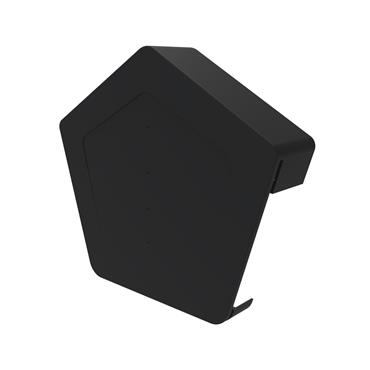 Uni-Fix Universal Angled Ridge Cap Black