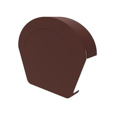 Uni-Fix Half Round Ridge Cap Brown