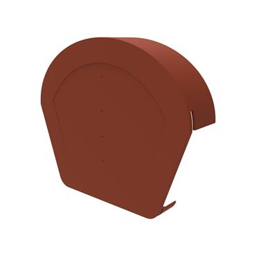 Uni-Fix Half Round Ridge Cap Terracotta