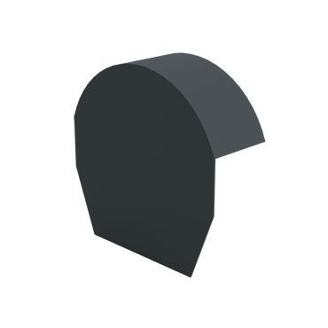 Tile Dry Verge Apex Alu. - Half Round