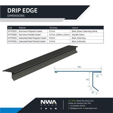 Drip Edge Flashing (4 x 2.4m)
