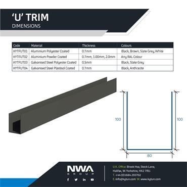U Trim Flashing (4 x 2.4m)