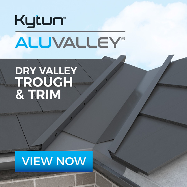 Dry Fix Valley Trough & Valley Trim installed on roof