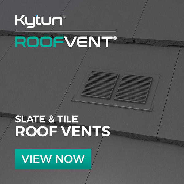 Roof Tile Vent example installed on roof to give sufficient ventilation