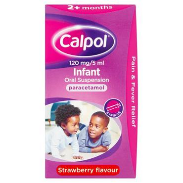 Calpol 120 mg/5 ml Infant Oral Suspension 60ml
