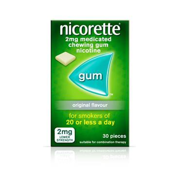 NICORETTE 2MG MEDICATED CHEWING GUM ORIGINAL 30 PIECE