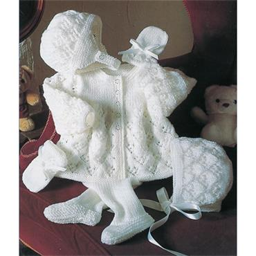Stylecraft #4187 Knit Pattern Christening Outfit in DK