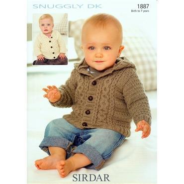 Sirdar #1887 Baby Jackets in DK