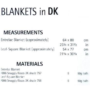 Sirdar #1903 Baby Blankets in DK