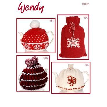 Wendy #5597 Christmas Tea Cosies pattern