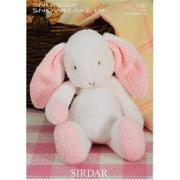 Sirdar #1243 Flopsy the Bunny Rabbit in Snowflake DK ***
