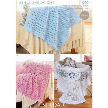 Sirdar #1299 Crochet Baby Blankets in DK