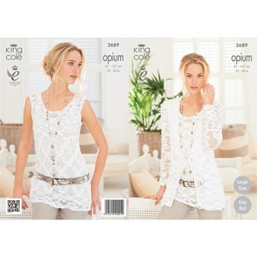 King Cole Opium #3689 Ladies Summer Top & Cardigan