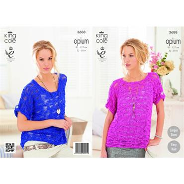King Cole Opium #3688 Ladies Summer Tops