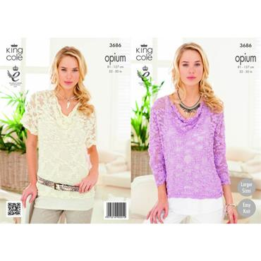 King Cole Opium #3686 Summer Sweaters