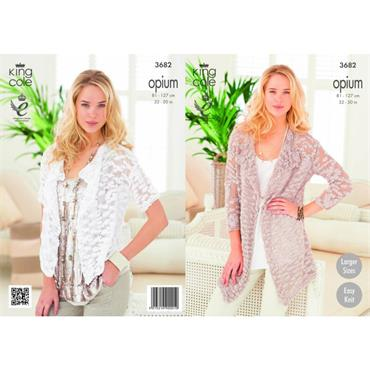King Cole Opium #3682 Waterfall Cardigans