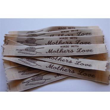 4 x Made With Mothers Love labels