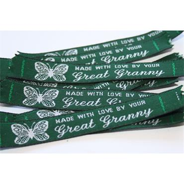 4 x Made With Love By Your Great Granny labels