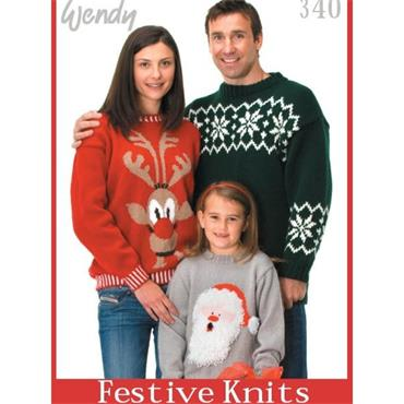 """Festive Knits"" Christmas Book (Wendy #340)"