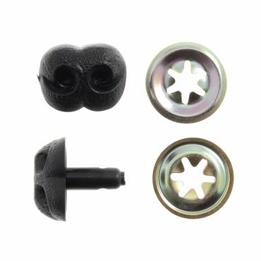 12mm Teddy Bear / Dog Nose (Black)