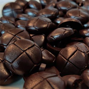 1 x Dark Brown Aran Button (20mm) Size 32