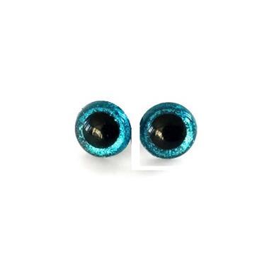 20mm Blue Glitter Toy Eyes (Safety Eyes) - 1 Pair