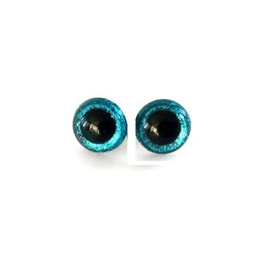 25mm Blue Glitter Toy Eyes (Safety Eyes) - 1 Pair