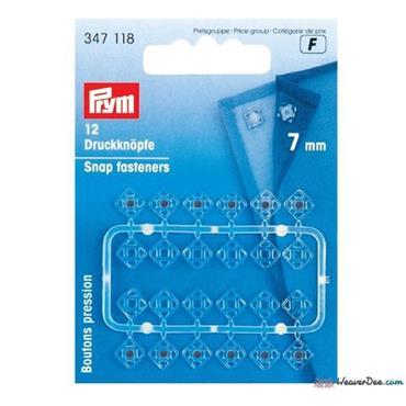 Prym Snap Fasteners - 7mm Clear x 24