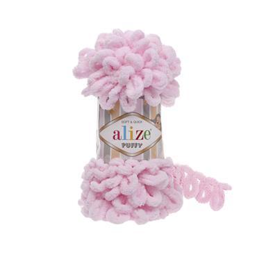 Alize Puffy - Finger Knitting Yarn (Free Baby Blanket Pattern)