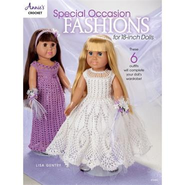 Special Occasion Fashions for 18-Inch Dolls (Crochet) - Annie's Book 871606