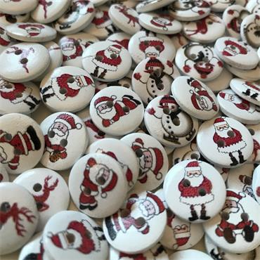 Pack of 20 x Assorted Christmas Buttons