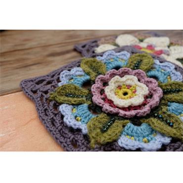 Bohemian Blooms Crochet Blanket