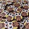 Owl Buttons - 20mm (Brown)
