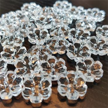 King Cole Crystal Effect Flower Button #BT300 - 15mm   ***