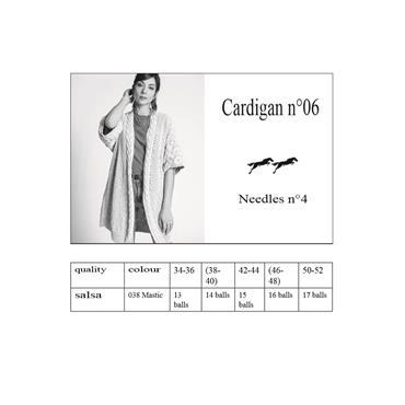 Cheval Blanc Pattern CB38-06 (E-Pattern PDF) Cardigan in Salsa DK