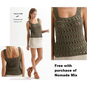 Cheval Blanc Nomade Mix Pattern #5 Crochet Top (e-pattern)