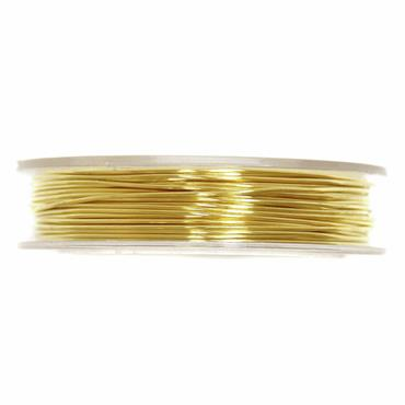 Brass Wire: 5m x 0.5mm: Gold