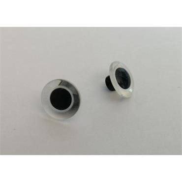 King Cole 12mm Clear Toy Eyes - 1 Pair