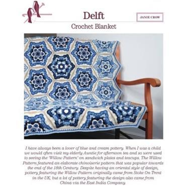 Janie Crow - Delft Crochet Blanket Pattern Booklet