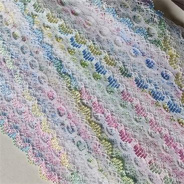 Dovecraft Knitting in Lace Multi/White x 1 Metre
