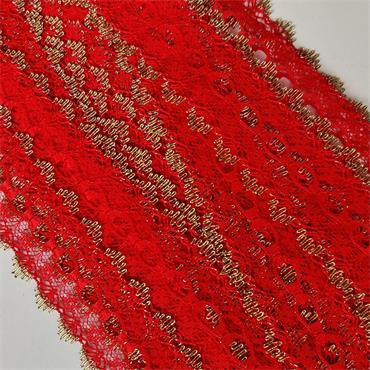 Dovecraft Knitting in Lace Red & Gold x 1 Metre