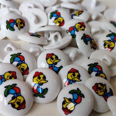 1 x Duck Motif Button (15mm)