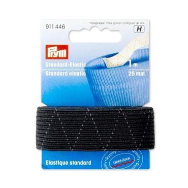 Standard Elastic 25mm x 1m Black